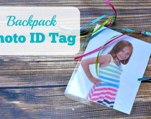DIY Backpack Photo ID Tag