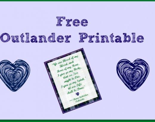 Free Outlander Printable!