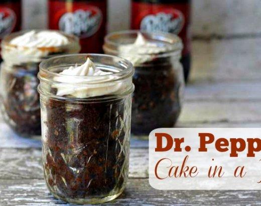 Dr. Pepper Cake in A Jar