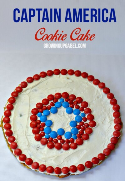 Need a quick and easy cake? Make this Captain America cookie cake for your superhero fan!