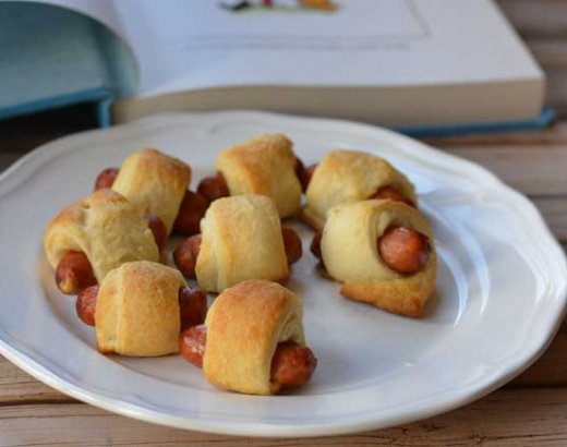 Piglet's Pigs in a Blanket for a Winnie-the-Pooh Pajama Party