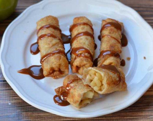 Caramel Apple Pie Egg Rolls
