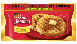 Aunt Jemima Frozen Waffles for Breakfast on the Go & A $1.00 Off Coupon