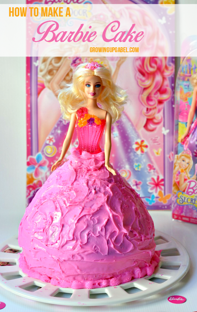 If your little girl loves Barbie, you need to make this Barbie cake! Boxed cake mix is baked in a special pan to make this an easy birthday cake to make at home!