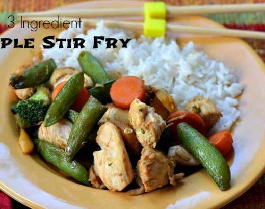 Simple Stir Fry with 3 Ingredients