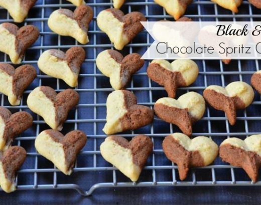 Black and White Chocolate Spritz Cookies