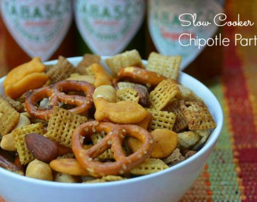Slow Cooker Chipotle Party Mix Holiday Party Recipe