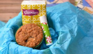 Cherry Oatmeal Muffin Mini-Care Packages for Cold and Flu Season