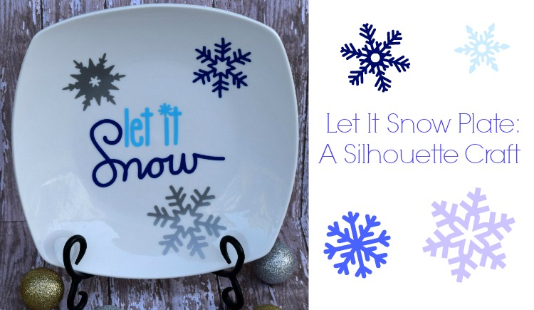 Craft for a Silhouette: Let It Snow Plate
