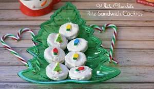 White Chocolate Ritz Sandwich Cookies