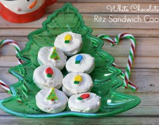 White Chocolate Ritz Sandwich Cookies