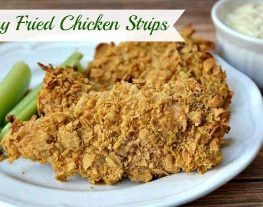 Skinny Fried Chicken Fingers