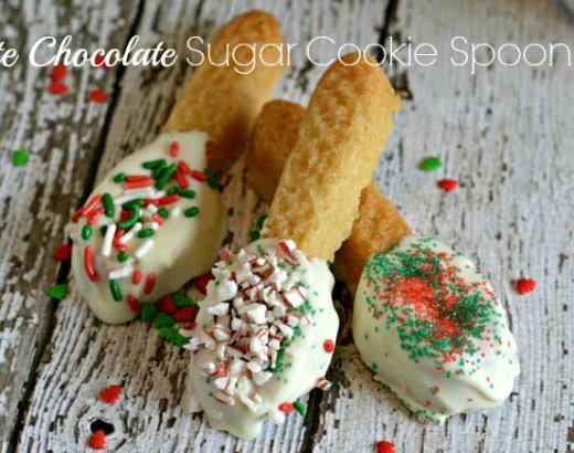 White Chocolate Sugar Cookie Spoons