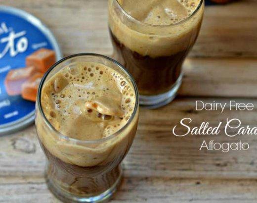 Dairy Free Salted Caramel Affogato