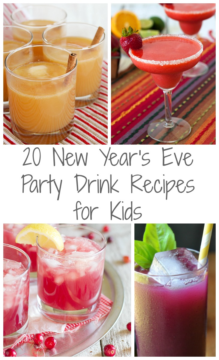 20 New Year's Eve Party Drink Recipes for Kids via GrowingupGabel.com