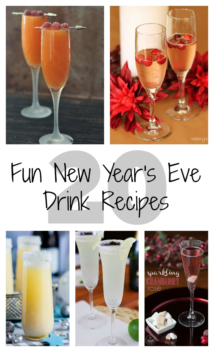 20 fun new year's eve drink recipes via GrowingUpGabel.com