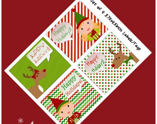 Free Printable Gift Tags {And How to Save on Ink!}