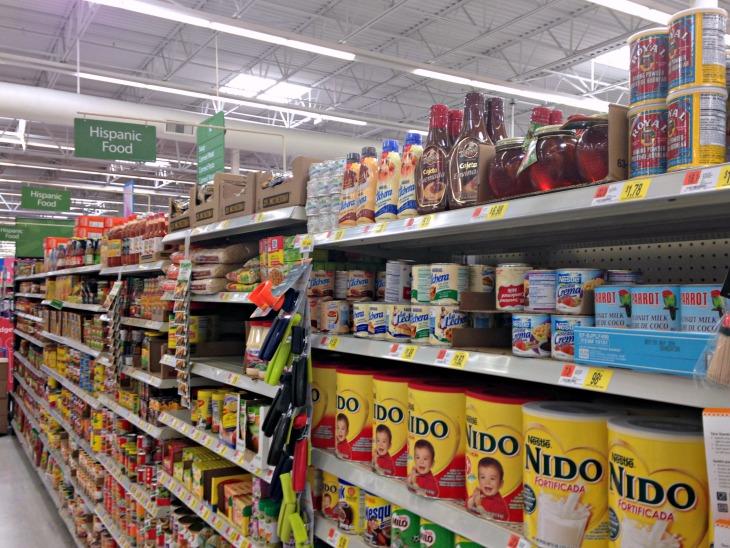 Walmart Hispanic Aisle