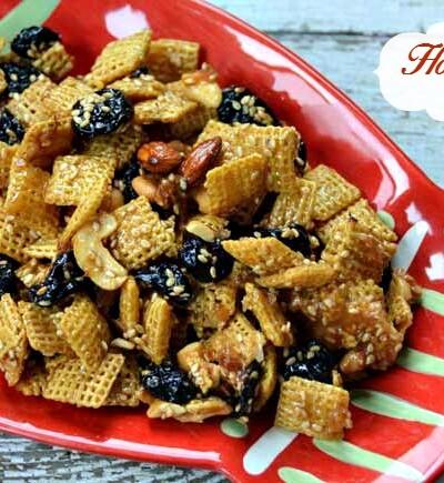 Honey Sesame Snack Mix