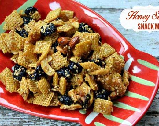 Honey Sesame Snack Mix Recipe