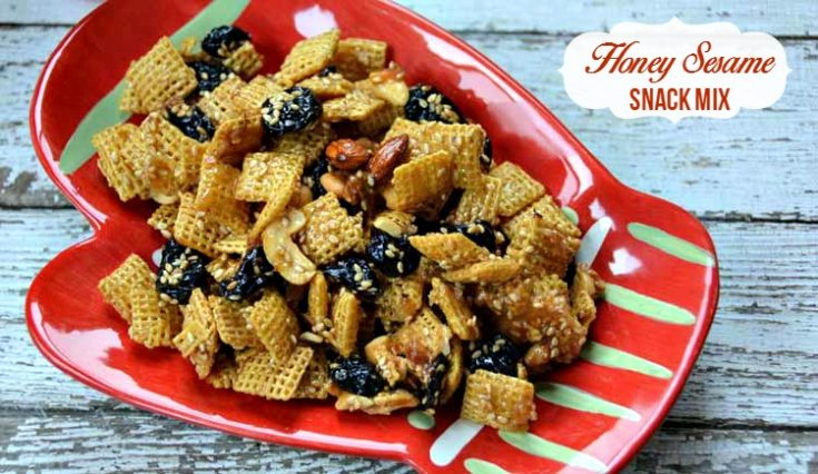 Honey Sesame Snack Mix Recipe