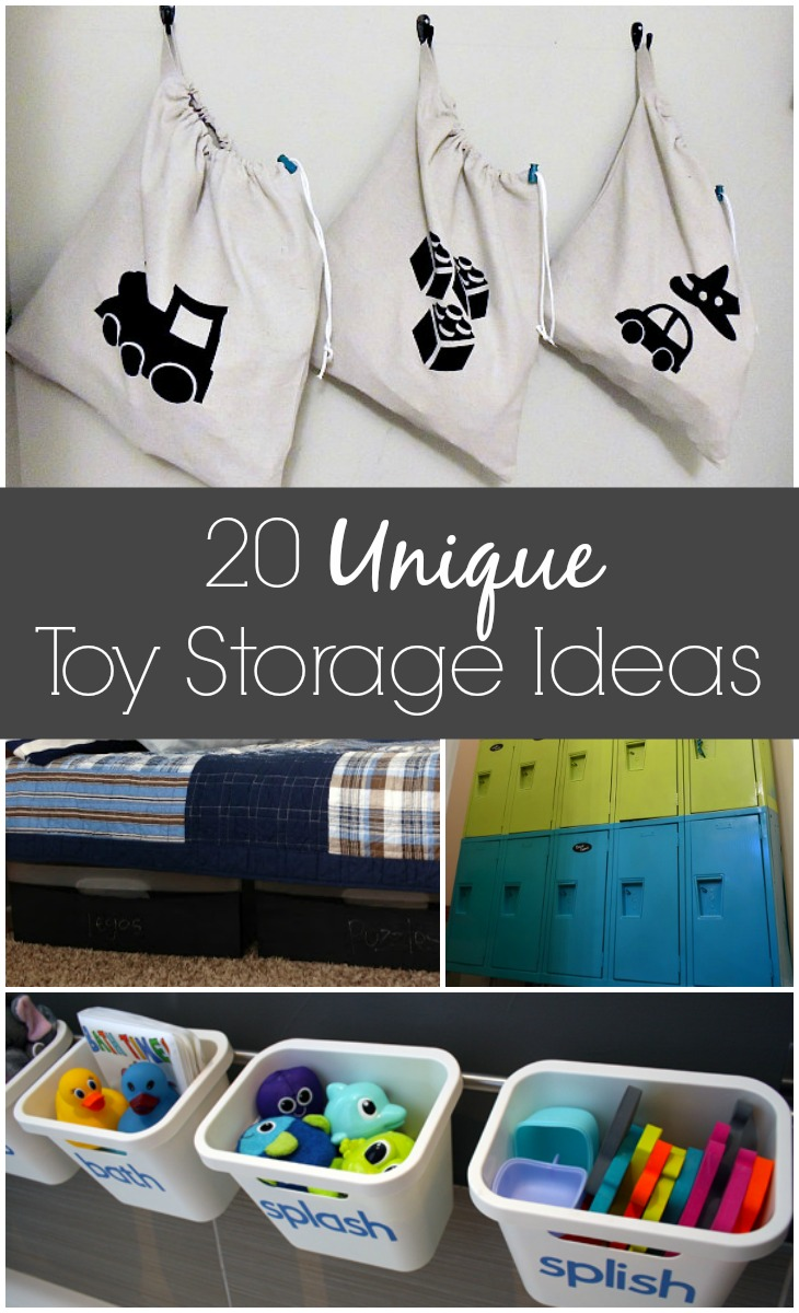 20 unique toy storage ideas via GrowingUpGabel.com