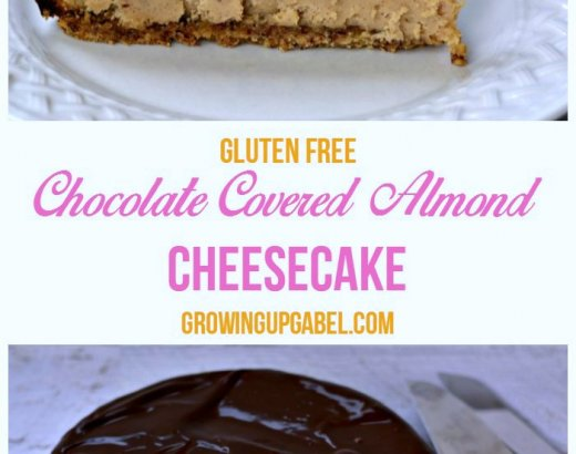 Chocolate Covered Almond Gluten Free Cheesecake
