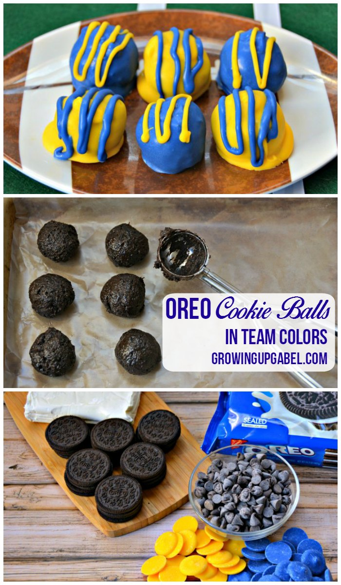 Make easy Oreo Cookie Balls in your favorite team's colors! |GrowingUpGabel.com