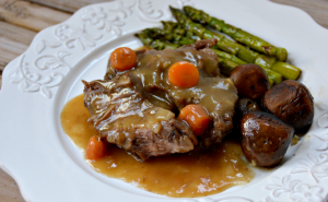 Tired of your boring pot roast recipe? Try this easy German pot roast, or Sauerbraten recipe for an easy dinner!