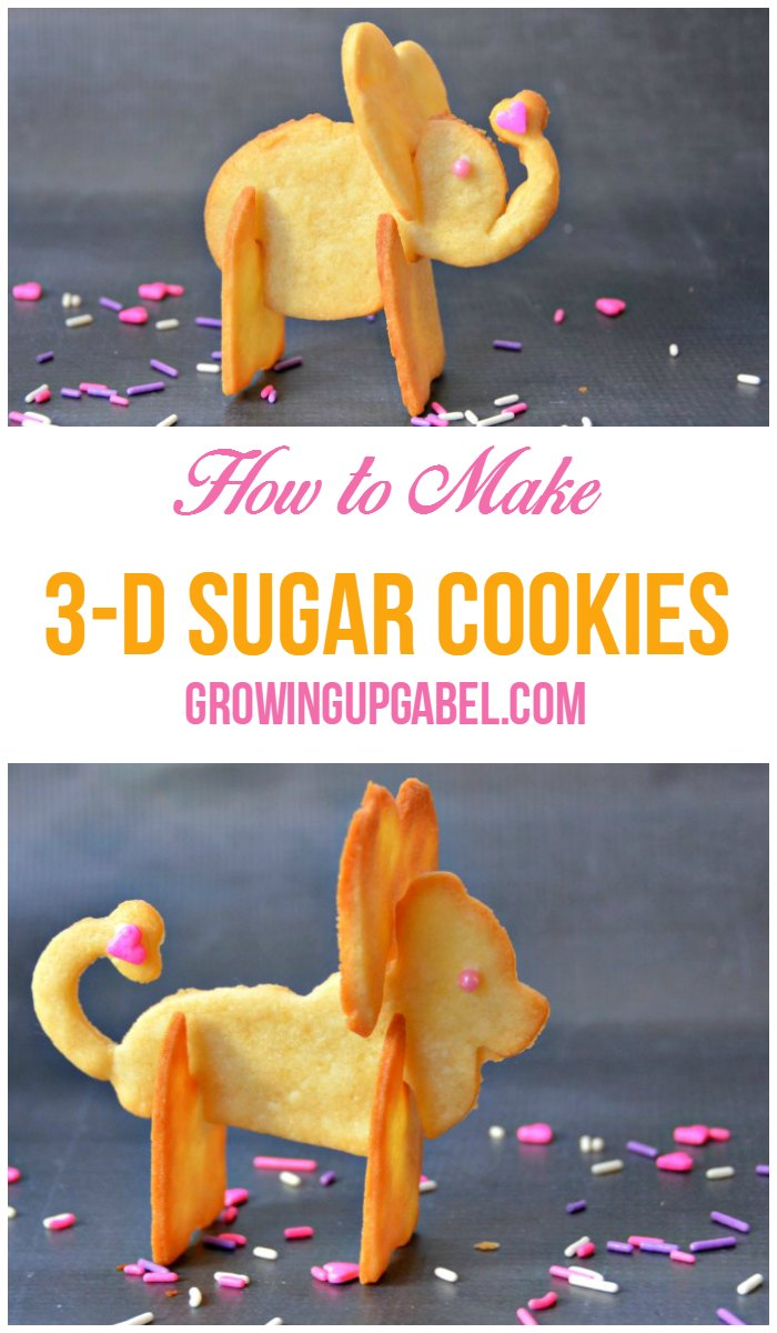 Check out this tutorial on how to make awesome 3D cookies! Great for wedding, birthday, baby shower and more! #cookierecipes #cookies #3DBaking #baking
