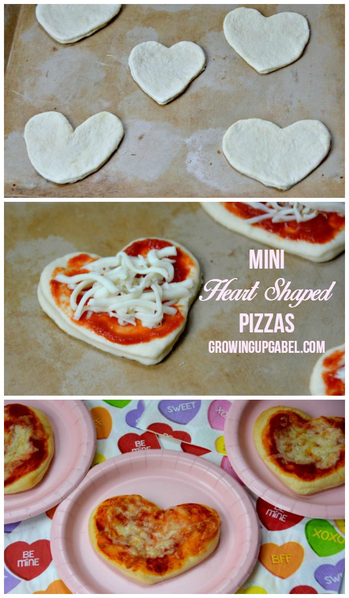 Mini Heart Shaped Pizzas Tutorial
