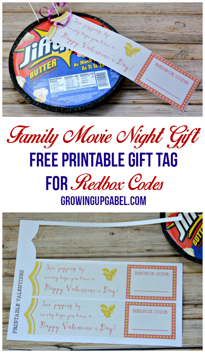 Printable Gift Tags for Redbox Codes