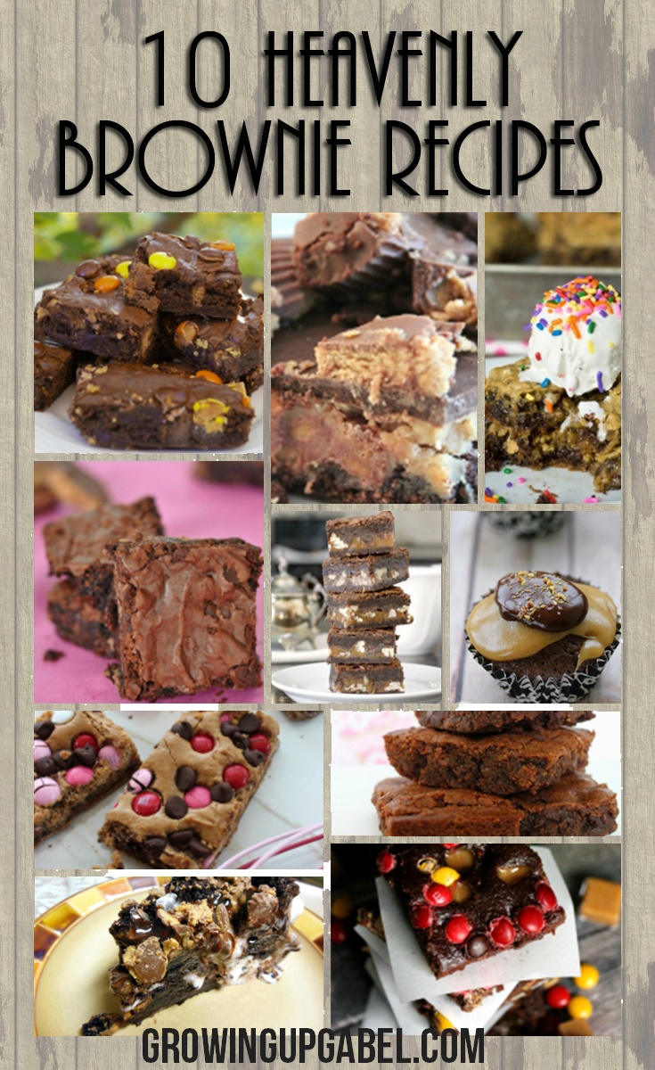 Everyone loves brownies! Check out this list of over 10 brownie recipes!