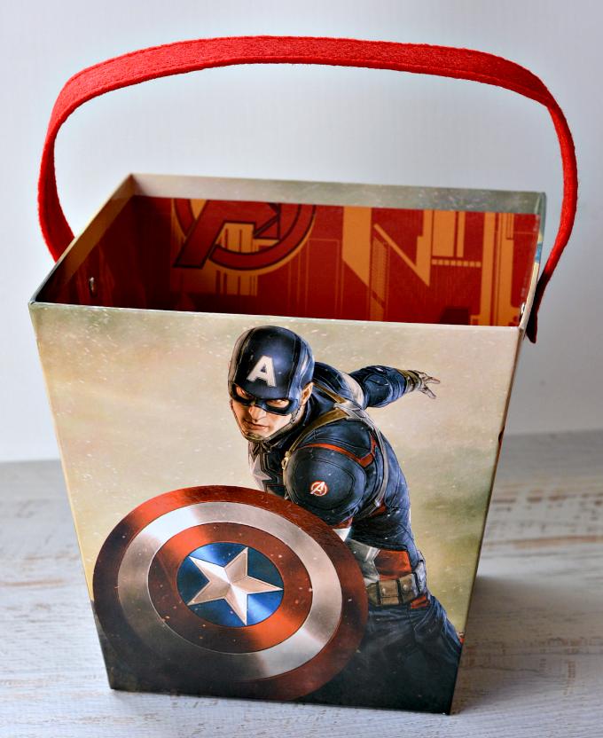 Captain America Easter Bucket
