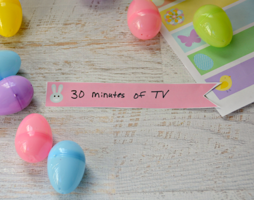 FREE Printable Non Candy Easter Egg Fillers for Kids