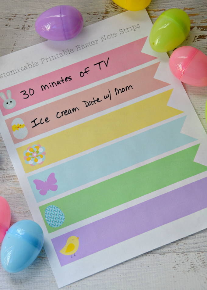 Easter Egg Printable Notes