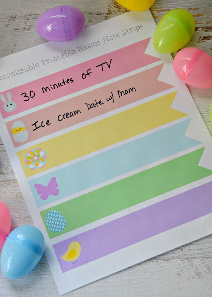 Easter Egg Printable Notes