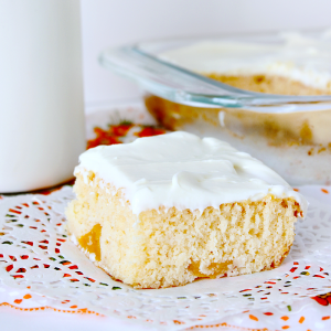 Easy Summer Peach Cake from Growing Up Gabel square