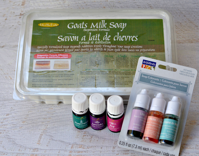 Supplies for DIY Soap with Essential Oils