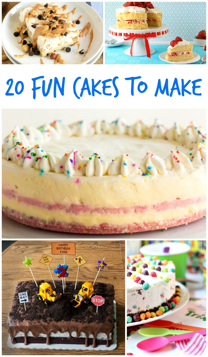 Fun cakes to make for kids, birthdays, parties and any other occasion! From easy to awesome, check out these tutorials and bake a fun cake!
