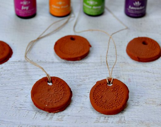 How to Make Clay Essential Oil Diffuser Necklace