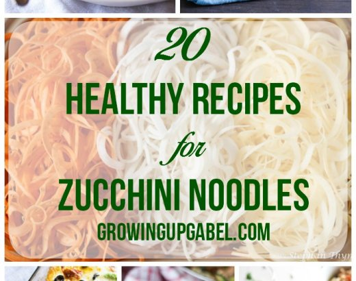 20 Healthy Recipes for Zucchini Noodles