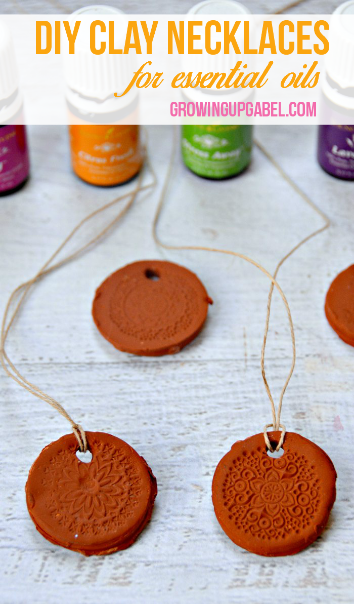 clay necklaces for essential oils