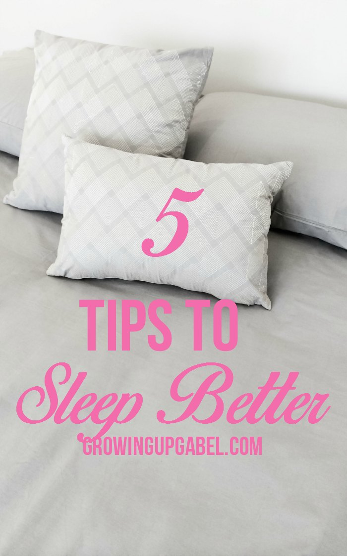 Want to sleep better? Check out these 5 tips for getting better sleep so you wake up feeling more rested!