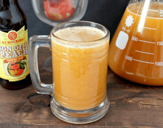 Peach Beermosa Beer Cocktails