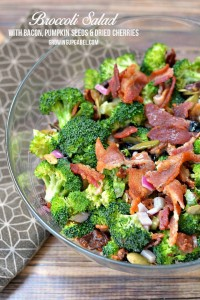 Bacon and Broccoli Salad with nuts and seeds Recipe