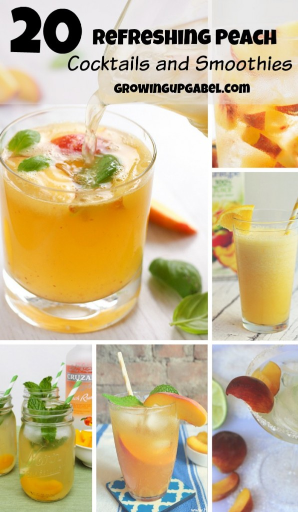 Looking for a few ideas to use peaches? Check out this amazing list for a great peach smoothie recipe and peach cocktails! Keep both kids and adults refreshed at your summer parties with a few of these delicious drinks.