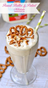 Cool off with this tasty milkshake recipe! Ice cream, milk, peanut butter are blended with pretzels for a unique ice cream treat everyone will love!