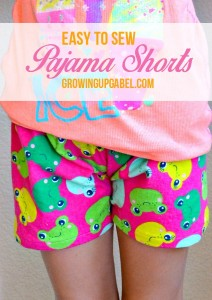 Easy to Sew Pajama Shorts for Summer