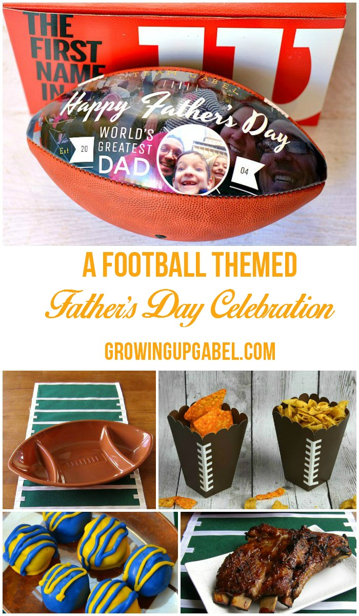 Is Dad a football fan? Celebrate him this Father's Day with any of these fun football themed party ideas including a personalized gift for football fans!